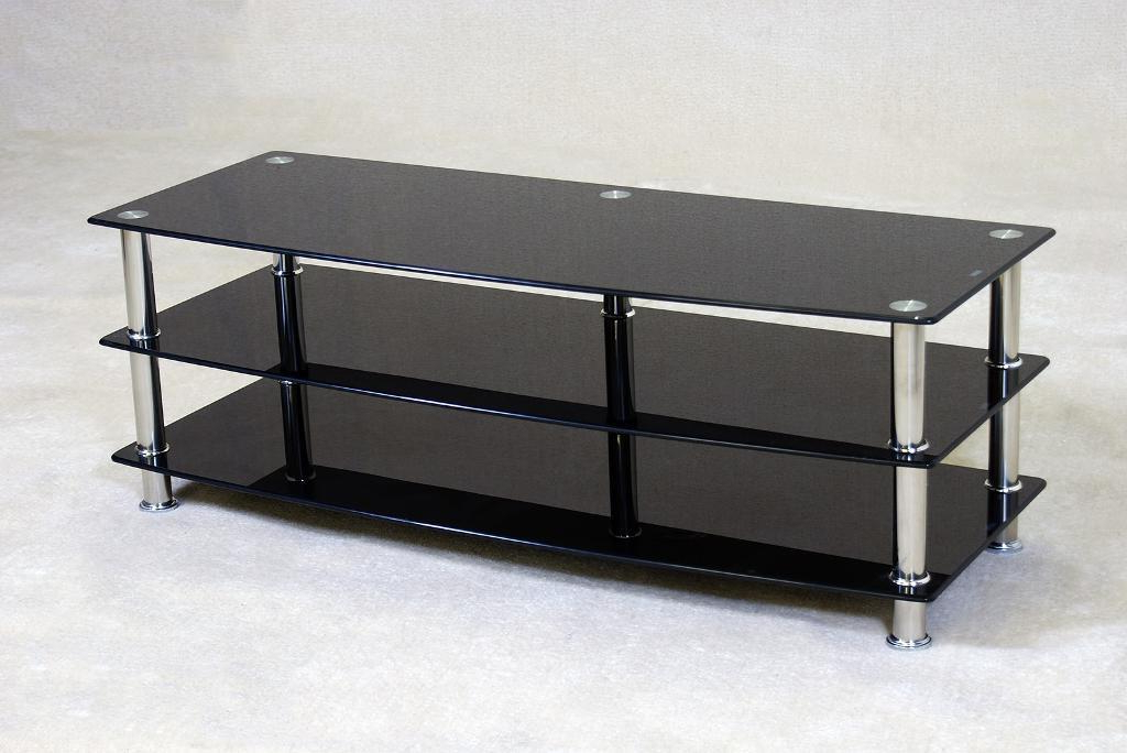Black Glass Tv Cabinets For Most Recent Large Black Glass Tv Unit (View 3 of 20)