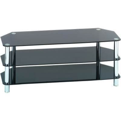Black Glass Tv Cabinets Intended For 2017 Black Tempered Glass Tv Stand 003 ( (View 5 of 20)