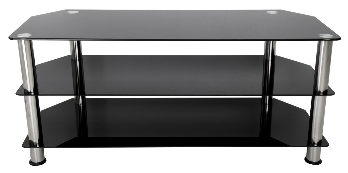 Black Glass Tv Stand (Gallery 11 of 20)