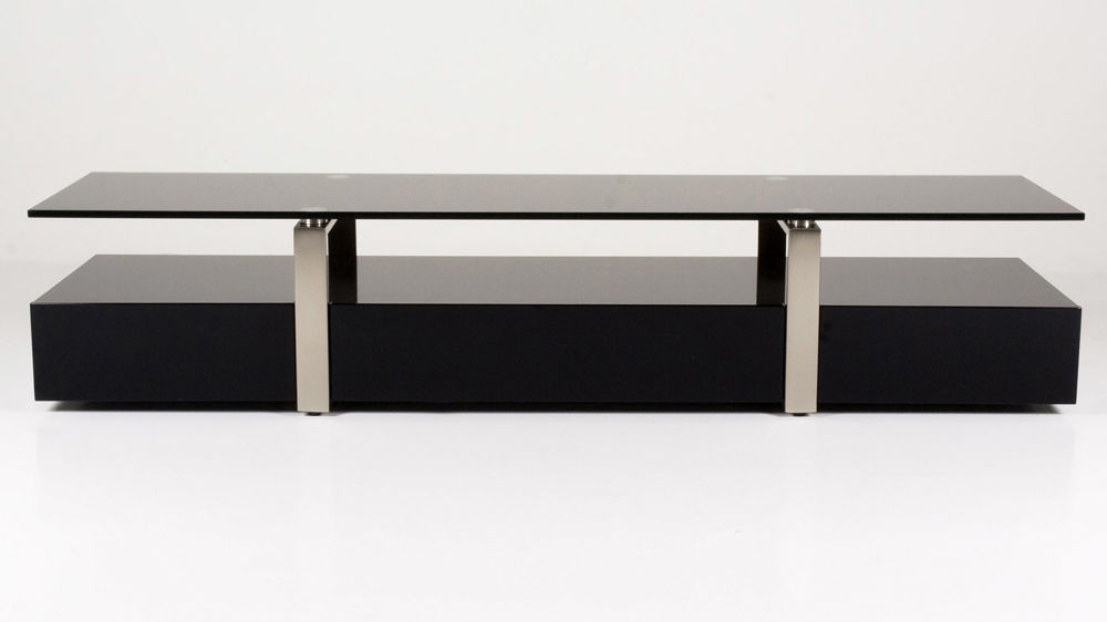 Black Glass Tv Table (Gallery 1 of 20)
