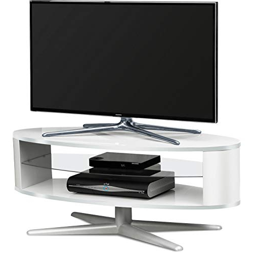 Black Gloss Corner Tv Stand With Regard To Famous White Gloss Corner Tv Units: Amazon.co (View 8 of 20)