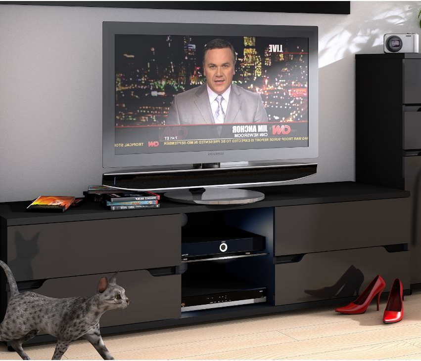 Black Gloss Tv Cabinets With Famous Black Gloss Tv Cabinet (View 6 of 20)