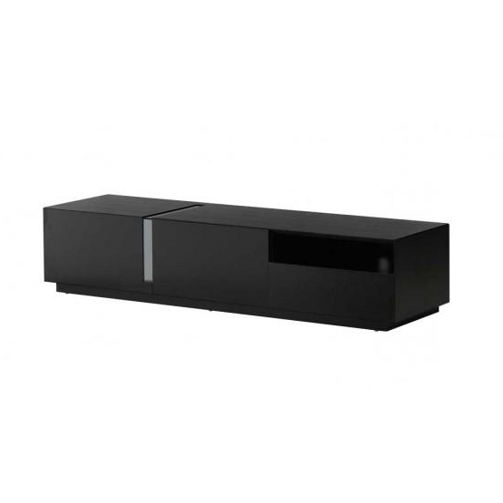 Black Gloss Tv Stands In Trendy ✅ Tv027 Tv Stand, Black High Gloss (Gallery 16 of 20)