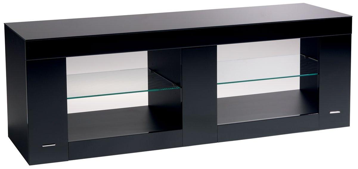 Black Gloss Tv Stands Regarding Popular B Tech Btf803 High Gloss Black Tv Stand (View 6 of 20)
