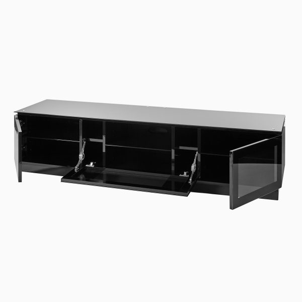 Black Gloss Tv Unit Up To 80 Inch Flat Screen Tv (View 14 of 20)