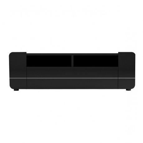 Black Gloss Tv Units In Well Known Bump Black Gloss Tv Stand With Led Lights – Tv Stands (1754) – Sena (View 5 of 20)