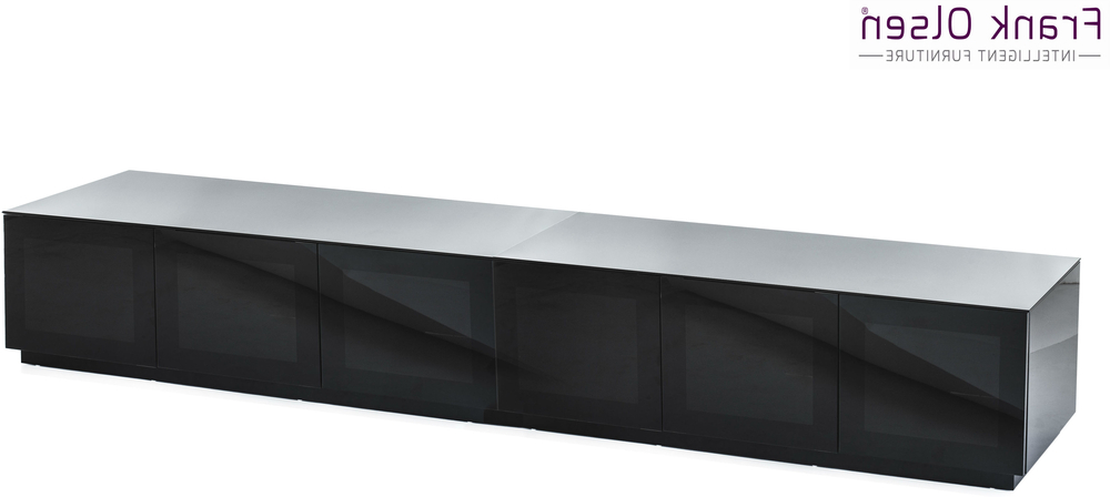 Black Gloss Tv Units With Trendy Modern Extra Wide (View 11 of 20)