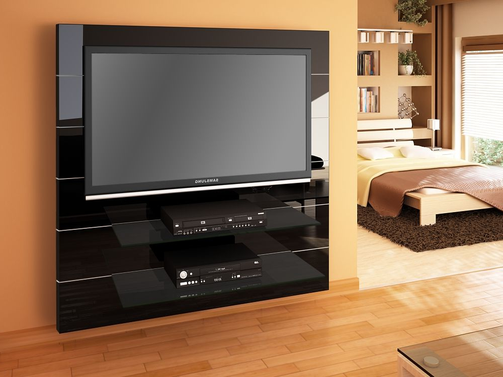 Black Gloss Tv Wall Unit For Trendy Panorama Black High Gloss Tv Cabinet (View 4 of 20)