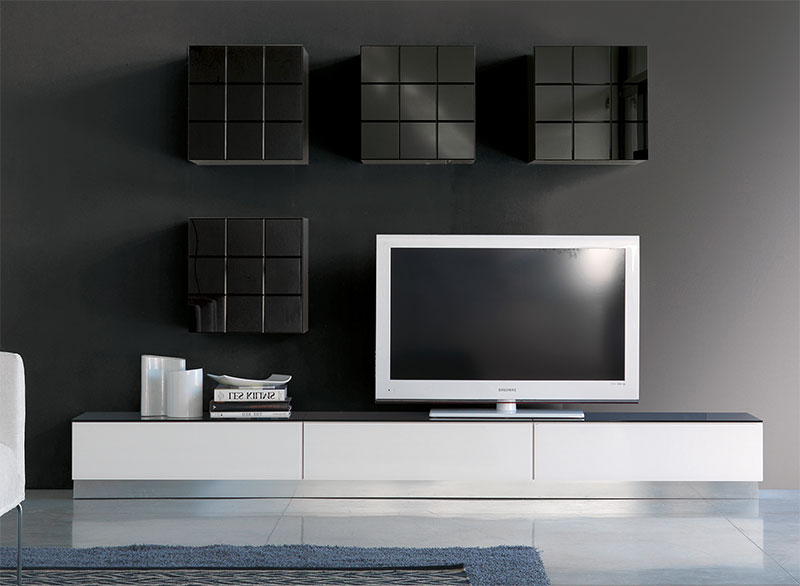 Black Gloss Tv Wall Unit Throughout Widely Used Contemporary Tv Wall Units Uk – Wall Ideas (View 5 of 20)