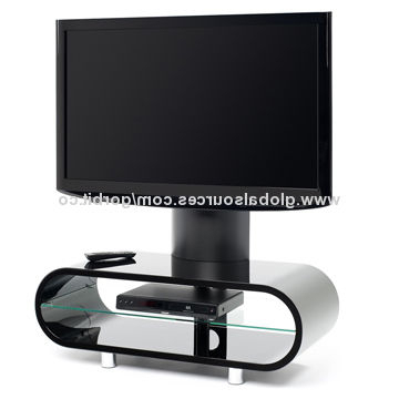 Black Ovid Ov95Tvb Tv Stand With Screen Support/bentwood High Glossy Throughout Recent Ovid White Tv Stands (View 2 of 20)