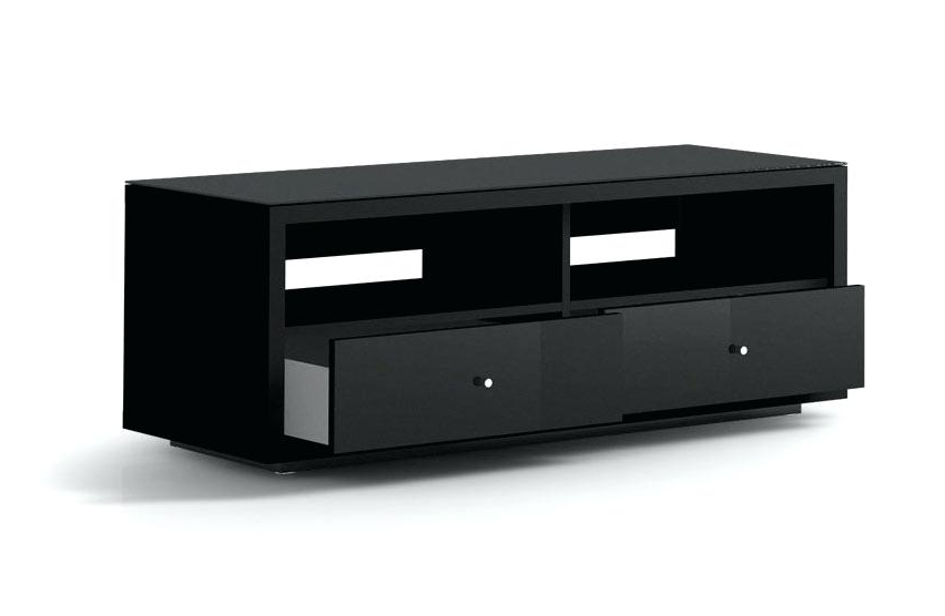 Black Tv Cabinets With Doors Throughout Best And Newest Black Tv Cabinet Click Image To Enlarge Black Tv Cabinet With Glass (Gallery 6 of 20)