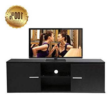 Black Tv Cabinets With Drawers Intended For 2017 Dripex Modern Small Black Tv Unit, Tv Stand 120 X 38 X: Amazon.co (View 17 of 20)
