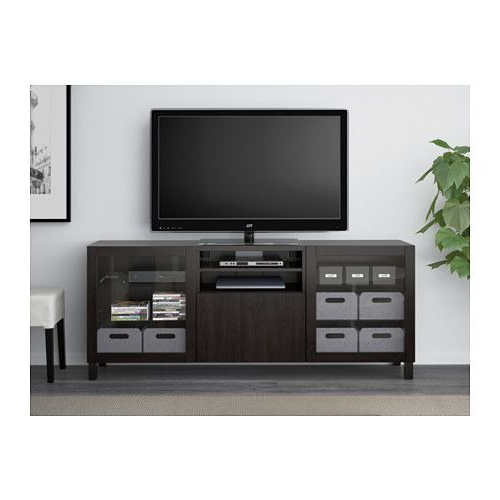 Black Tv Cabinets With Drawers Throughout Well Known Bestå Tv Unit With Drawers – Lappviken/sindvik Black Brown Clear (View 8 of 20)