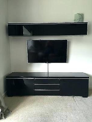 Black Tv Cabinets With Drawers Within 2017 Black Tv Stand Ikea Black Stand Glass Door Cabinet Black Tv Stands (View 20 of 20)