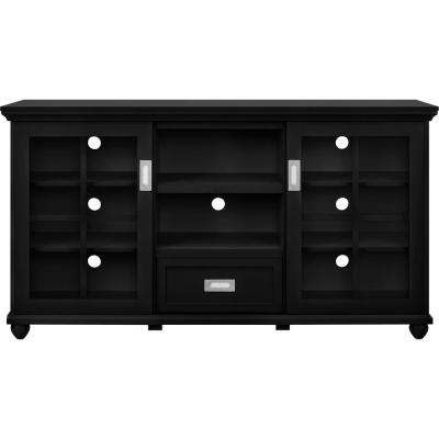 Black – Tv Stands – Living Room Furniture – The Home Depot Throughout Current Black Tv Stands With Drawers (View 2 of 20)