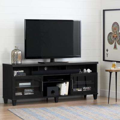Black – Tv Stands – Living Room Furniture – The Home Depot Within Trendy Long Black Tv Stands (Gallery 13 of 20)