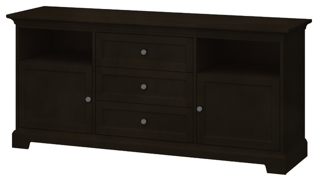 Black Tv Stands With Drawers Pertaining To Recent Howard Miller Custom Tv Stand, 2 Wood Doors, 3 Drawers (View 7 of 20)