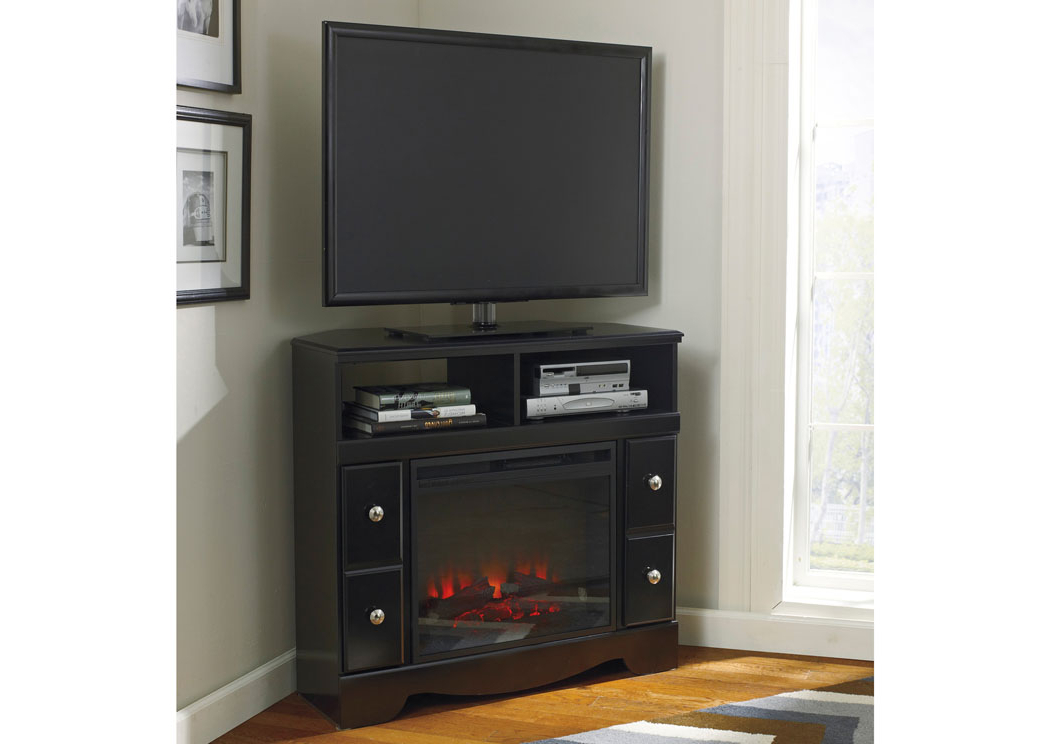 Black Wood Corner Tv Stands For Most Recent Showcase Furniture – Mt (View 4 of 20)