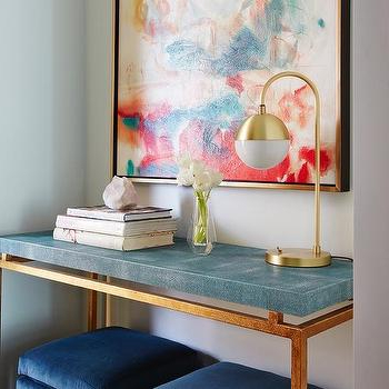 Blue Faux Shagreen Console Table Design Ideas For Widely Used Faux Shagreen Console Tables (Gallery 9 of 20)