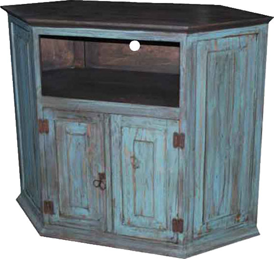 Blue Tv Stands Intended For Most Popular Rustic Turquoise Corner Tv Stand Turquoise Tv Corner Stand (View 5 of 20)