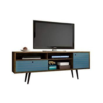 Blue Tv Stands Intended For Most Recently Released Amazon: Manhattan Comfort Liberty Collection Mid Century Modern (View 6 of 20)