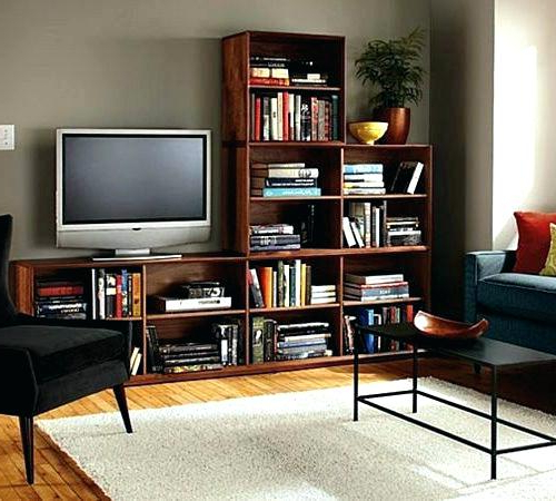 Bookshelf Tv Stands Combo For Most Recently Released Tv Stands Bookshelf Stand Bookcase Combo Living Room Stands With (View 1 of 20)