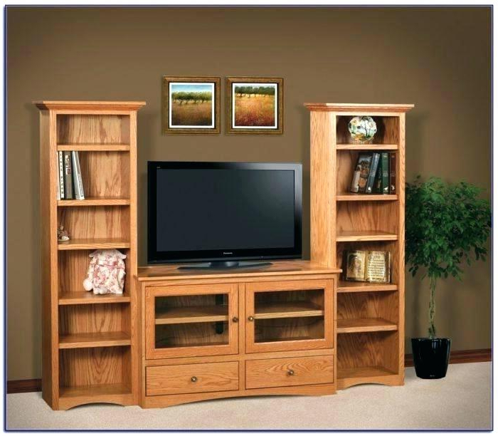 Bookshelf Tv Stands Combo Throughout Favorite Tv Stand With Matching Bookcases – Conetwork (Gallery 6 of 20)