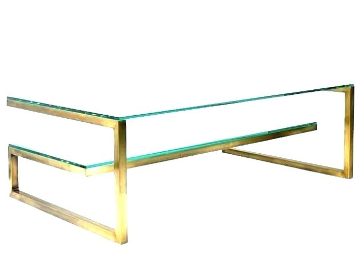 Brass Coffee Table Base Brass Coffee Table Base Brass Coffee Table Within Most Recent Elke Marble Console Tables With Polished Aluminum Base (View 11 of 20)