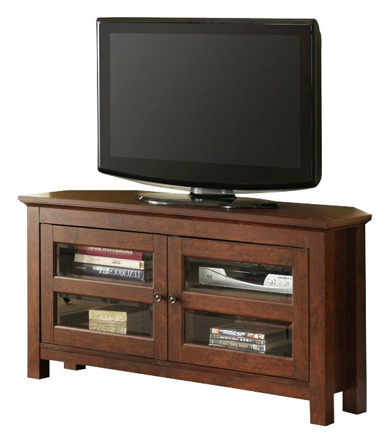 Brown Corner Tv Stand Dark Wood Corner Stand Table Surprising Wood Throughout Most Recently Released Dark Brown Corner Tv Stands (View 5 of 20)