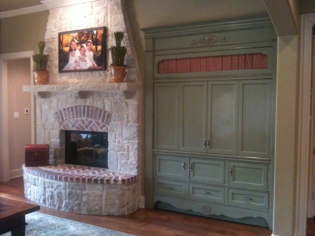 Built In French Country – Traditional – Entertainment Centers And Tv In Most Recent French Country Tv Cabinets (Gallery 9 of 20)