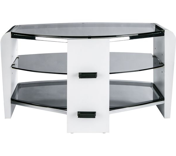 Buy Alphason Francium 800 Tv Stand – White & Smoked Glass (Gallery 20 of 20)