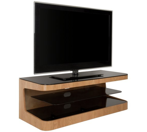 Buy Avf Up To 55 Inch Wood Tv Stand Oak Stands Argos Classic Tv With Regard To Most Recently Released Tv Stands For 55 Inch Tv (View 6 of 20)