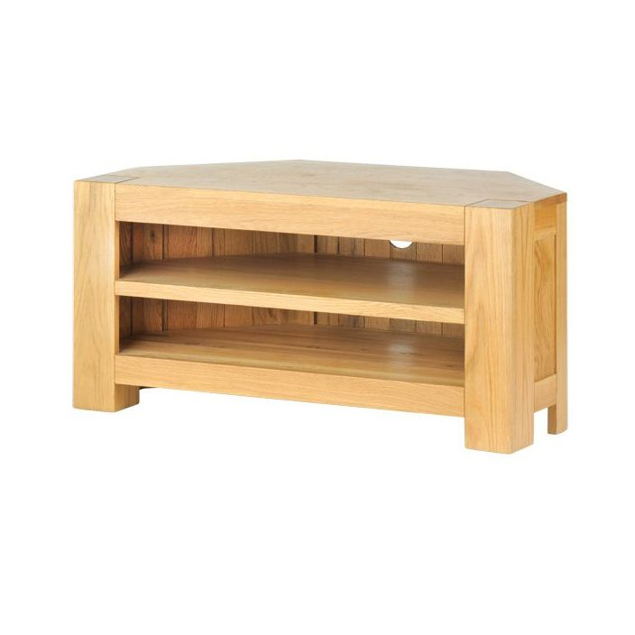 Buy Chunky Oak Corner Tv Unit Available At Homesdirect365.co (View 3 of 20)