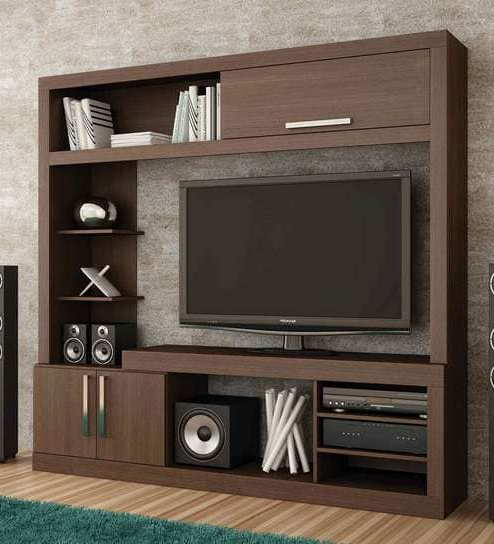 Buy Haruto Tv Unit In Nut Brown Finishmintwud Online – Modern Tv For Current Tv Entertainment Unit (View 2 of 20)