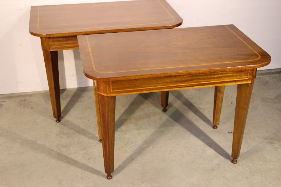 Buy Pair Console Hall Tables Inlaid From Antiques And Design Online Regarding Fashionable Orange Inlay Console Tables (View 18 of 20)