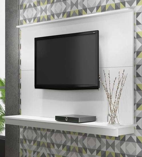 Buy Sakae Wall Mounted Tv Unit In White Finishmintwud Online In Recent On The Wall Tv Units (View 4 of 20)