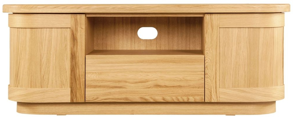 Buy Sorrento Tv Stand, Clemence Richard Sorento Oak Tv Cabinet Regarding Latest Wooden Tv Stands With Doors (View 5 of 20)