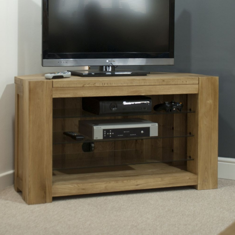 Buy Trend Oak Tv Unit, Homestyle Gb Trend Oak Tv Corner Stands With Regard To Recent Corner Wooden Tv Stands (Gallery 9 of 20)