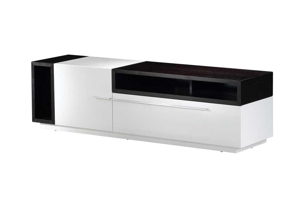 Buy Tv030 White Gloss Dark Oak Tv Standj And M From Www Regarding Trendy White And Wood Tv Stands (Gallery 11 of 20)