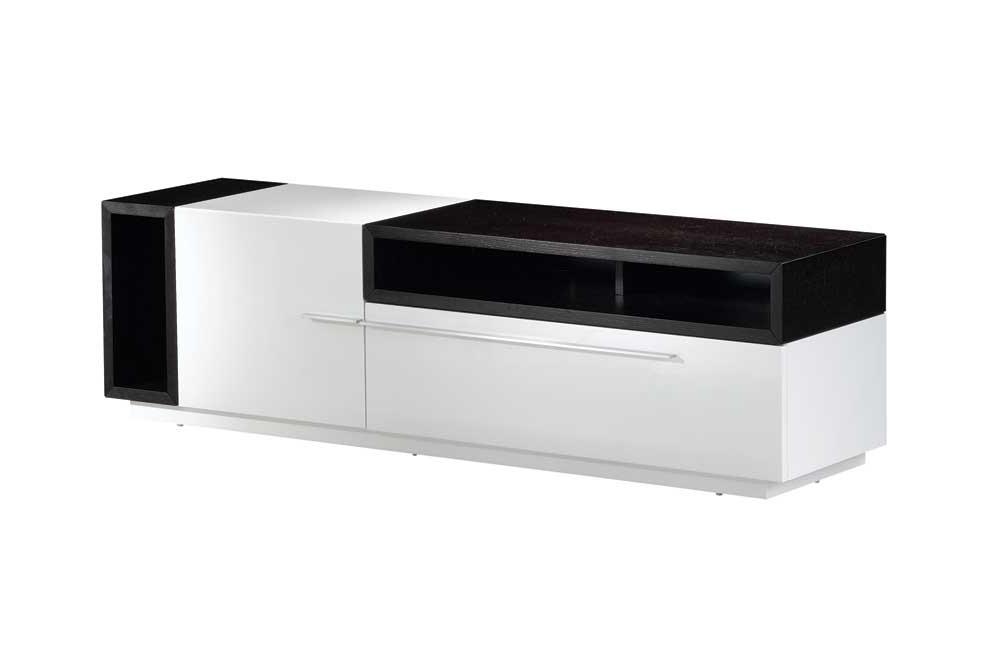 Buy Tv030 White Gloss Dark Oak Tv Standj And M From Www Regarding Trendy White And Wood Tv Stands (View 2 of 20)