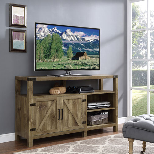"Cabinet Tv Stands Within Favorite Winmoor Home Rustic Country 60"" 1 Cabinet Tv Stand – Barnwood : Tv (Gallery 16 of 20)"