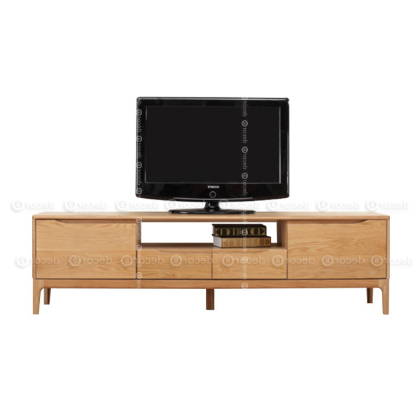 Caleb Solid Wood Tv For Wooden Tv Stands And Cabinets (View 5 of 20)