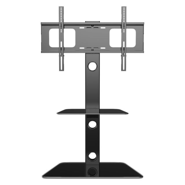 Cantilever Glass Tv Stand With 3 Shelves Bracket For 30 – 55 Inch With Regard To 2018 Cantilever Glass Tv Stands (View 14 of 20)