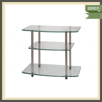 Cantilever Glass Tv Stand With Bracket For 32 To 52 Inches Plasma Within Well Liked Cantilever Glass Tv Stands (View 19 of 20)