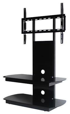 Cantilever Glass Tv Stands Inside Widely Used Oval Glass Tv Stand (View 10 of 20)