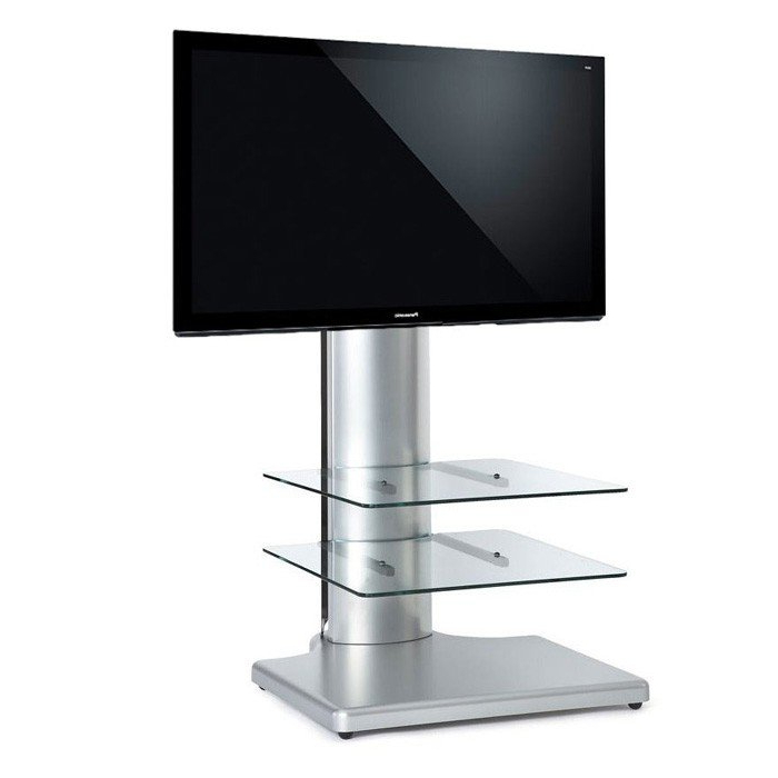 """Cantilever Tv Stands Throughout 2017 Off The Wall Origin S1 Cantilever Tv Stand In Silver For Tv's Up To 32"""" (View 2 of 20)"""