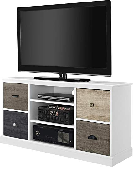 Casey Grey 54 Inch Tv Stands Regarding Well Liked Amazon: Ameriwood Home 1739096 Mercer Tv Console With (View 2 of 20)