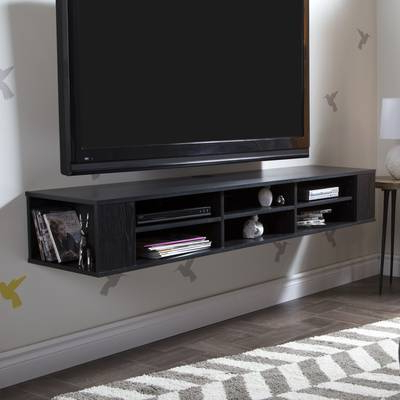 Casey Umber 74 Inch Tv Stands Inside Favorite South Shore Agora Wall Mounted Media Console Tv Stand For Tvs Up To (View 4 of 20)