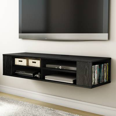 Casey Umber 74 Inch Tv Stands Within Recent South Shore Agora Wall Mounted Media Console Tv Stand For Tvs Up To (Gallery 12 of 20)