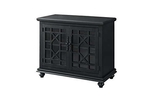 Cast Iron Tv Stands Intended For Current Amazon: Martin Svensson Home 91032 Small Spaces Tv Stand 2 Door (Gallery 11 of 20)